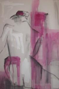 Kohle und Acryl auf Leinwand, 2014, 50x70